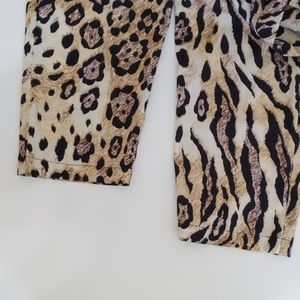 BeBe Other - Bebe Animal Print On The Prowl Corset Jumpsuit